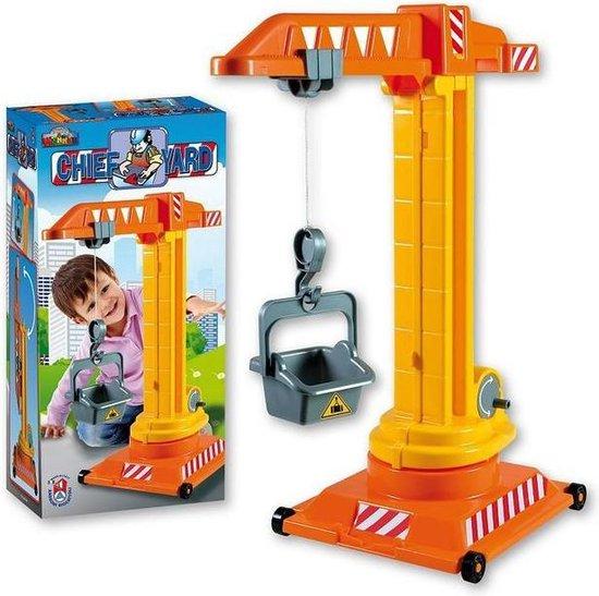 zandbak speelgoed hijskraan